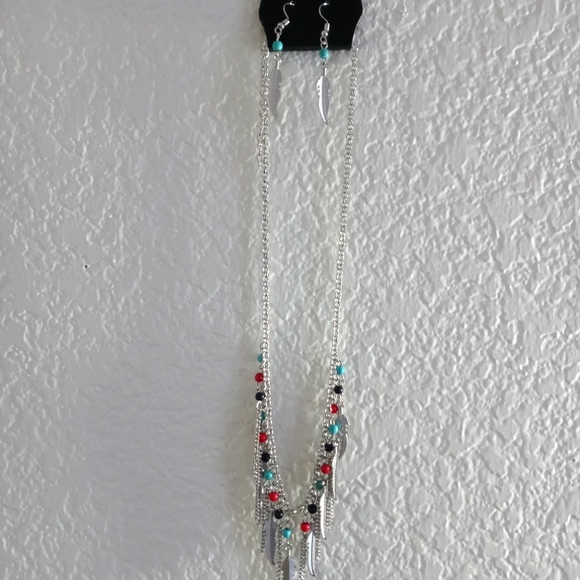 Paparazzi Feather Multicolored Bead Necklace